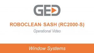 RoboClean Sash RC2000-S Operational video thumbnail